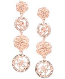 Pavé & Flower Quatro G Linear Drop Earrings