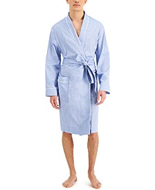 Men's Oxford Cotton Robe, Created for Macy's