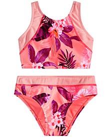 Big Girls 2-Pc. Twin Print Bikini