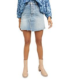 Brea Cut Off Denim Skirt