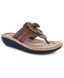 Women's Carnation Thong Comfort Sandals