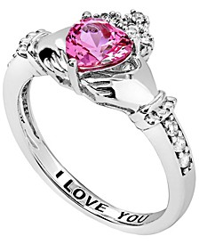 Women's Claddagh Heart Ring in Sterling Silver