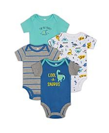 Baby Boys Dino Bodysuit, 4 Piece Set