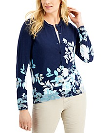 Placed Floral-Print Cardigan, Created for Macy's