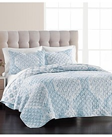 Medallion Matelasse Quilt & Sham Collection, Created for Macy's
