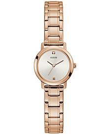 Women's Diamond-Accent Rose Gold-Tone Stainless Steel Bracelet Watch 25mm