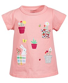 Baby Girls Garden Pocket Cotton T-Shirt, Created for Macy's
