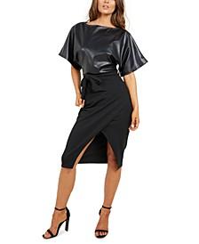 Mixed-Media Sheath Dress