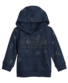 Toddler Boys Star Wars Logo Hood Fleece