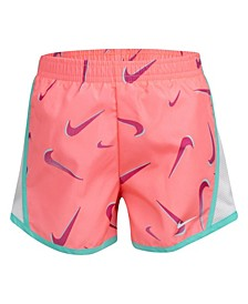 Little Girls Swoosh All Over Print Temp Shorts