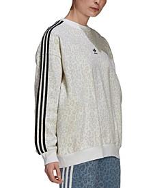 Women's Cotton Animal-Print Sweatshirt