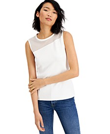 Mesh-Inset Tank, Created For Macy's