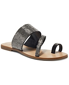Gianolo Embellished Toe-Ring Flat Sandals, Created for Macy's