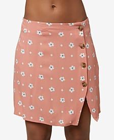Juniors' Libby Floral-Print Skirt
