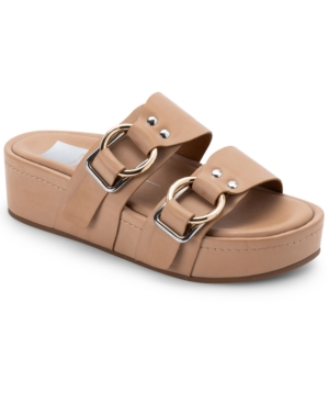 Dolce Vita CICI DOUBLE-BUCKLED FLAFORM FOOTBED SANDALS WOMEN'S SHOES