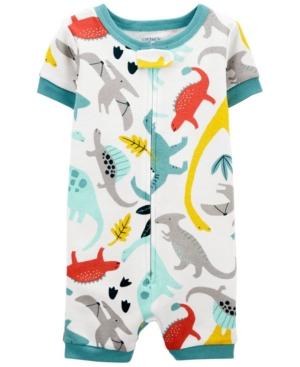 Carter's Pajamas TODDLER BOYS DINOSAUR SNUG FIT ROMPER PAJAMA SET