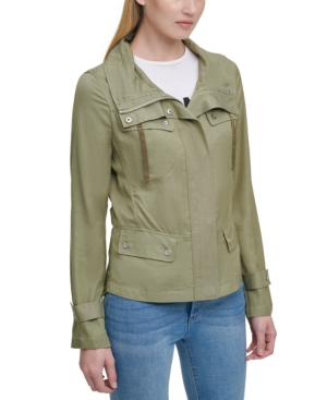 Dkny MOCK-NECK UTILITY JACKET