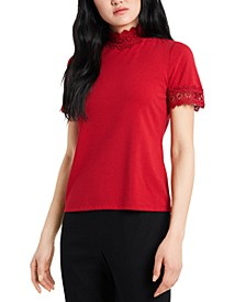 Chloe Solid Lace Top, Created for Macy's