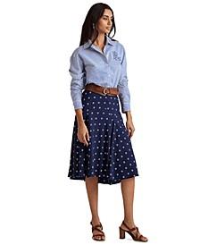 Diamond Print Peasant Skirt