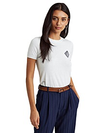 Intarsia-Knit Logo T-Shirt