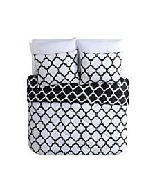 Galaxy Reversible Quatrefoil Bed in a Bag 8 Piece Comforter Set, Queen