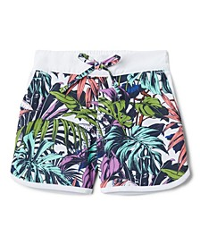 Little and Big Girls Tropical Sandy Shores Board Shorts