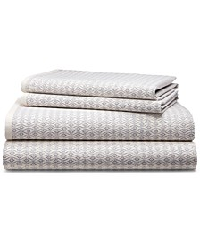 Estella Cotton Sateen 4-Pc. Trellis Queen Sheet Set
