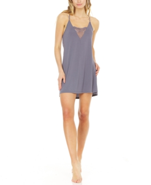 Kat Lace-Trimmed Knit Chemise Nightgown