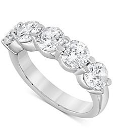 Diamond Five Stone Band (3 ct. t.w.) in 14k White Gold