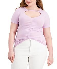 Trendy Plus Size Cutout Top