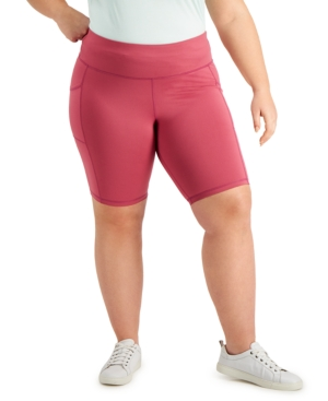 Plus Size Pull-On Bicycle Shorts