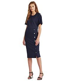 Pinstriped Ponte Skirt