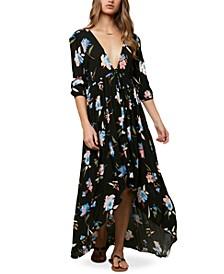 Juniors' Boyce Floral-Print Maxi Dress