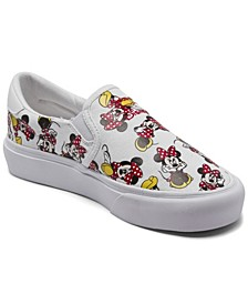 Big Girls Court Rally X Disney Slip-on Casual Sneakers from Finish Line