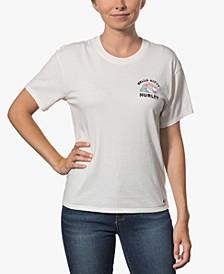 x Hello Kitty Juniors' Surfs Up Cotton Girlfriend T-Shirt