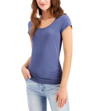 Aveto T-shirts JUNIORS' SCOOP-NECK CAP-SLEEVE T-SHIRT