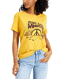 Women's Cotton Peace Love Woodstock T-Shirt