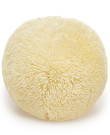 "Faux-Fur Pom Pom 10"" Round Decorative Pillow, Created for Macy's"