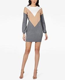 RTV- Juniors' Colorblocked Sweater Dress