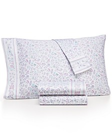 Novelty Print Full 4-pc Sheet Set, 250 Thread Count 100% Cotton, Created for Macy's