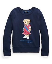Big Girls Polo Bear Fleece Sweatshirt