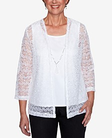 Petite Classics Layered-Look Necklace Top