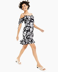 Printed Off-The-Shoulder Dress, Created for Macy's