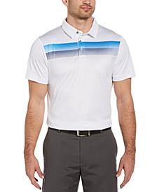 Men's Geo Ombré-Print Polo Shirt