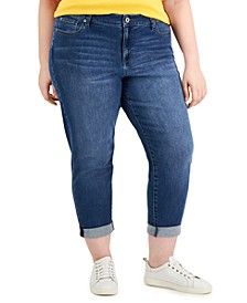 Trendy Plus Size  Ripped Girlfriend Jeans