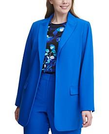 Plus Size Open-Front Blazer