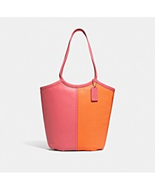 Bea Tote In Colorblock Leather