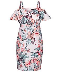 Plus Size Marcella Ruffled Sheath Dress