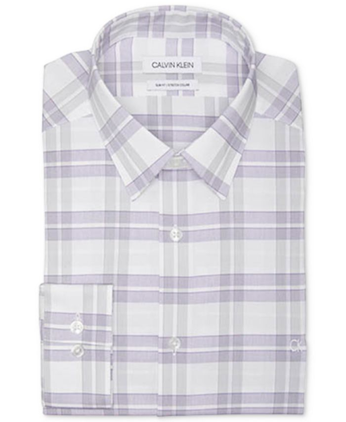 Calvin Klein - Men's Slim-Fit Gingham Dress Shirt