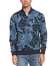Men's Quarter-Zip Floral Track Jacket